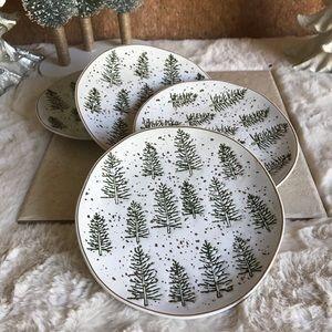 Potter Christmas Gold Speckle Asymmetrical Plates